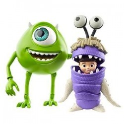 Figuras Mike Wazowski & Boo Disney Pixar