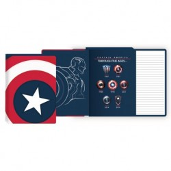 Cuaderno A5 Marvel Capitan America Through The Ages