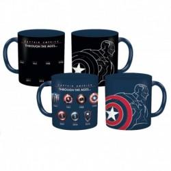 Taza Termocolor Marvel Capitan America Through The Ages