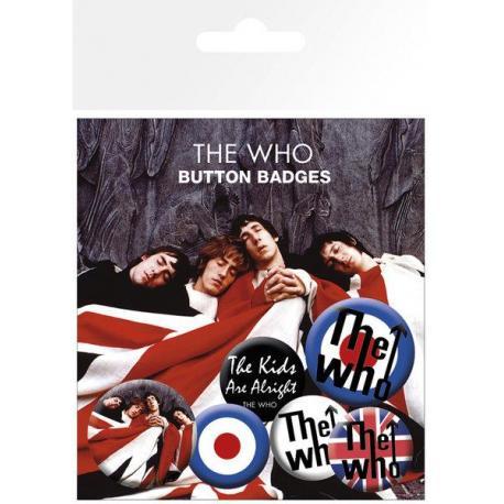 Pack de chapas The Who Lyrics and Logos
