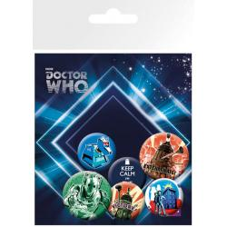 Pack de chapas Doctor Who Retro