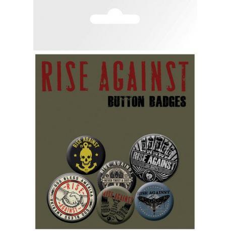 Pack de chapas Rise Against Shaking Hands