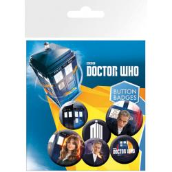 Pack de chapas Doctor Who New
