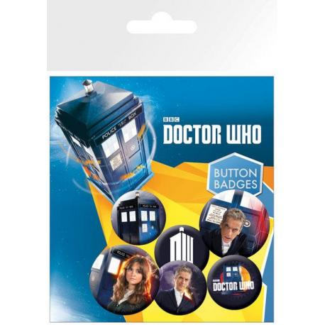 Pack de chapas Doctor Who New