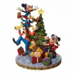 Figura Disney Traditions Decorando El Arbol De Navidad