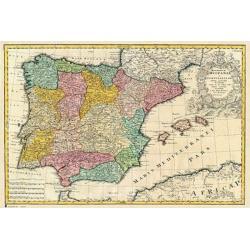 Poster Mapa Antiguo España