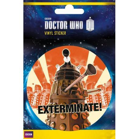 Pegatina de vinilo Doctor Who Exterminate