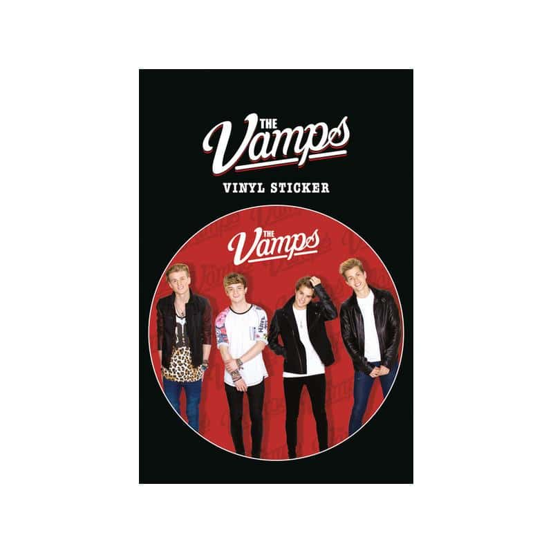 Pegatina de vinilo the vamps red for Pegatinas de vinilo