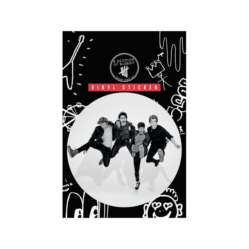 Pegatina de vinilo 5 seconds of summer jump for Pegatinas de vinilo