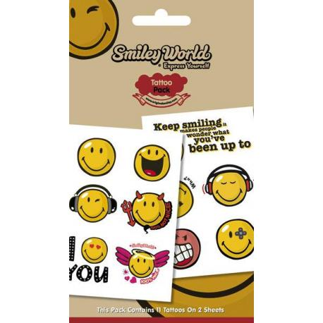 Pack de tatuajes Smiley Expressions
