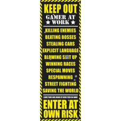 Poster Gamer puerta Gaming Keep Out