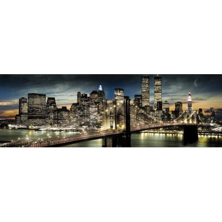 Poster puerta New York Manhattan Night and Moon