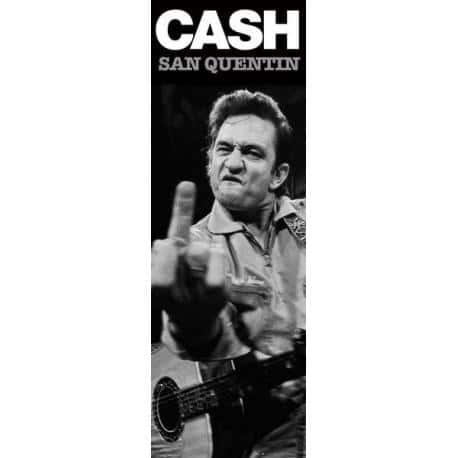 Poster puerta Johnny Cash San Quentin (Finger)