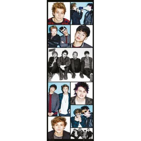 Poster puerta 5 Seconds of Summer Grid
