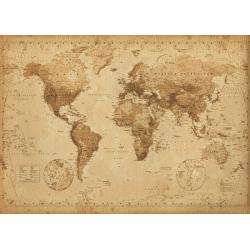 Poster Gigante World Map Antique Style