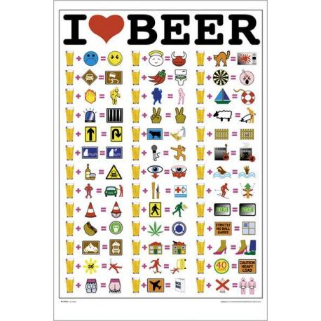 Maxi Poster I Love Beer