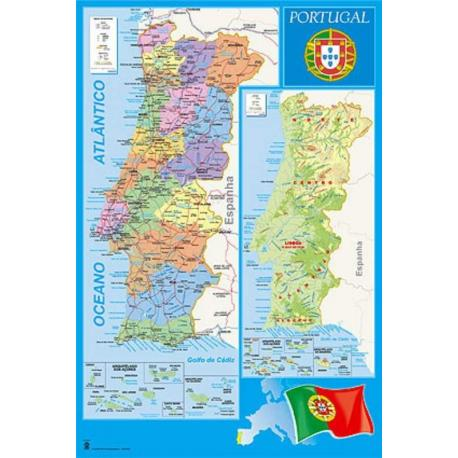 Poster Mapa Portugal