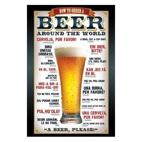 Poster Como Pedir una Cerveza por el Mundo
