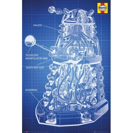 Maxi Poster Doctor Who Haynes Dalek Blueprint