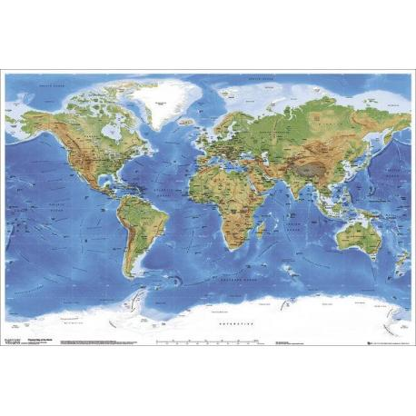 Maxi Poster Planetary Visions Physical Map of the World