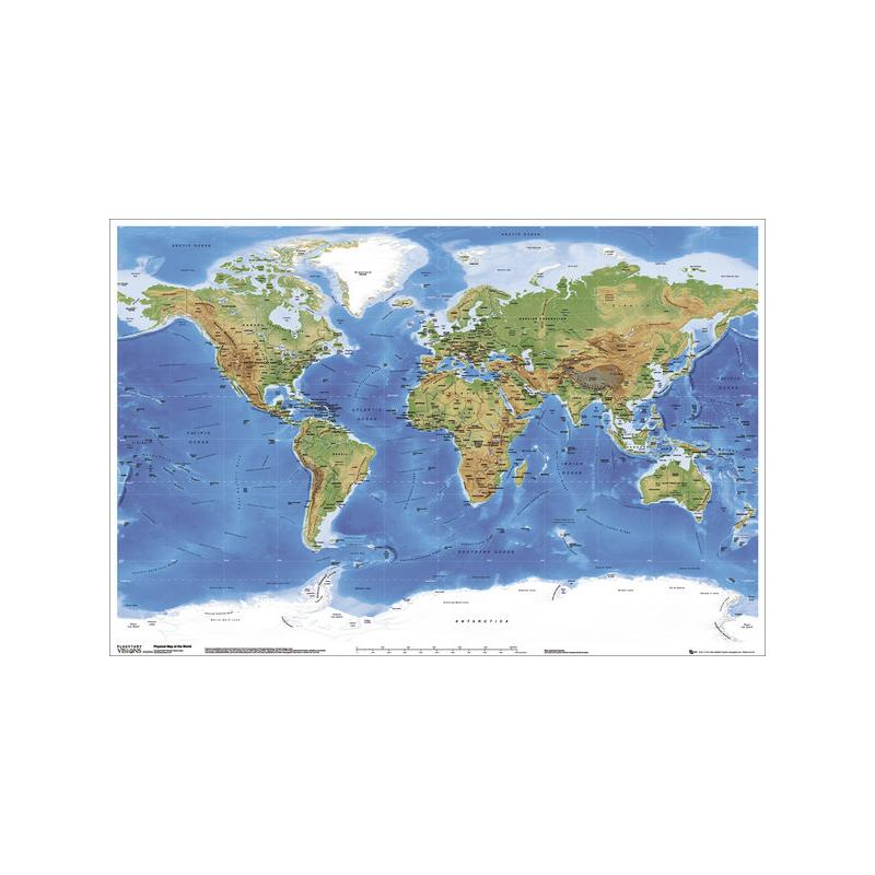 El miniposter mapa mundi ingles de mejor calidad y precio en maxi poster planetary visions physical map of the world gumiabroncs Choice Image