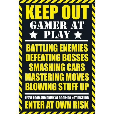 Maxi Poster Gaming Keep Out - Clean