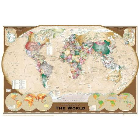 Maxi Poster World Map Tripel Projection