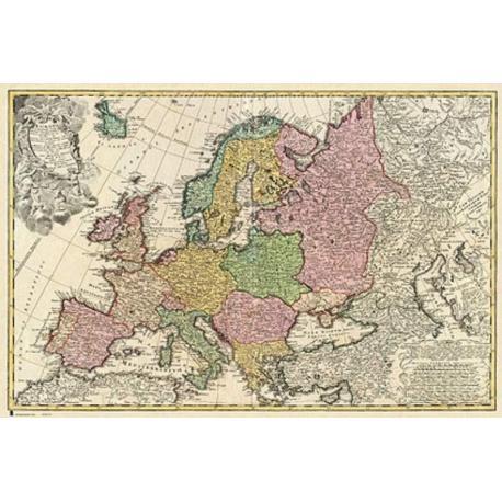 Poster Mapa Antiguo Europa