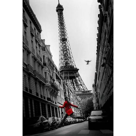 Poster Paris Red Coat