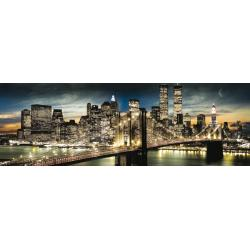 Poster Slim New York Manhattan Night and Moon