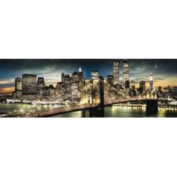 Poster Slim New York Manhattan Night and Moon