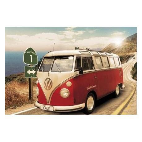 Poster Volkswagen Californian Camper En Ruta