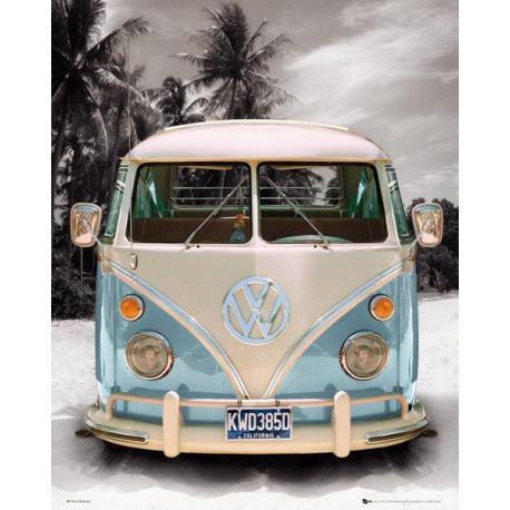 Mini poster VW Camper Beach