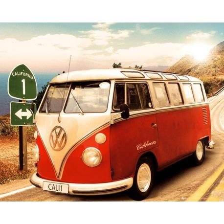 Mini poster VW Camper Route One