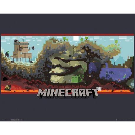 Mini poster Gamer Minecraft Underground