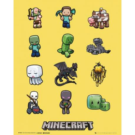 Mini poster Minecraft Characters