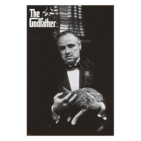 Poster Godfather Blanco y Negro