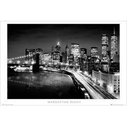 Maxi Poster New York Manhattan Night