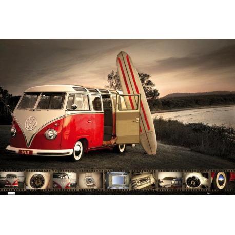 Maxi Poster VW (Brendan Ray) Kombi Surfboard