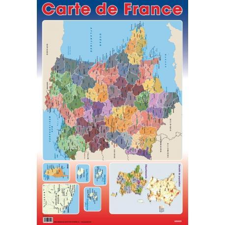 Planches Éducatives Carte De France