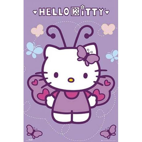 Poster Hello Kitty Mariposa