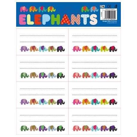 Etiquetas Gr/Labels Elephants
