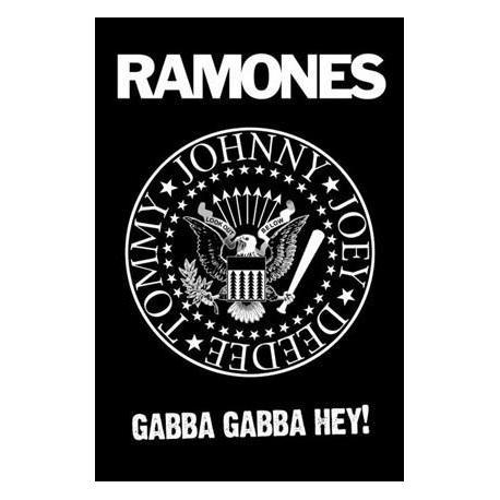 Poster Logo Ramones Blanco y Negro