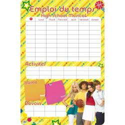 Planches Éducatives Emploi Du Temps High School Musical