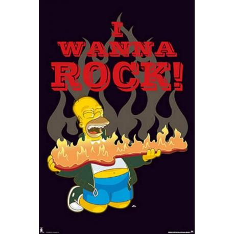 Poster Los Simpsons Wanna Rock