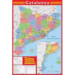 Poster Mapa Catalunya