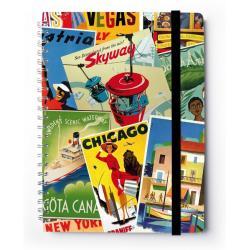 Cuaderno Tapa Dura A4 C. Premium Travel