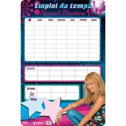 Planches Éducatives Emploi Du Temps Hannah Montana