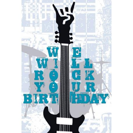 Tarjeta Felicitacion We Will Rock Your Birth
