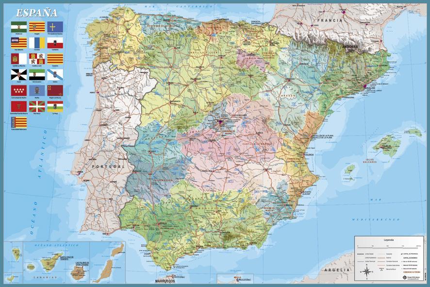 Mapa Fisico Politico De España | My blog